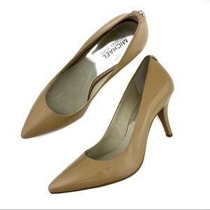Michael Kors Nude Heels Size 8 Patent Leather